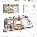 Планировка квартиры в ЖК BASPANA